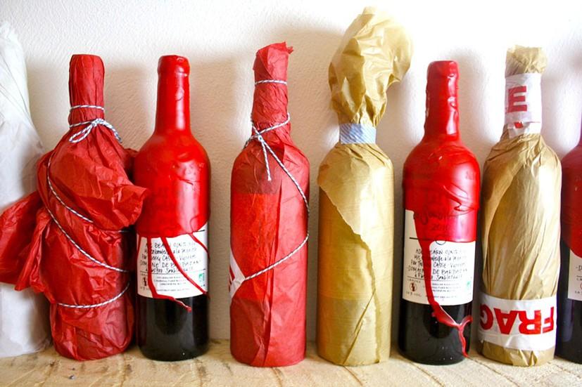 bouteilles de vin emballées