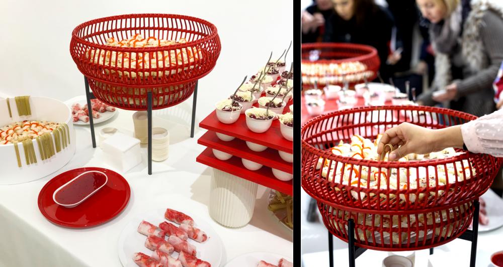 buffet Rouge et Blanc , design culinaire