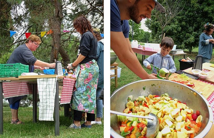 cuisiner en plein air