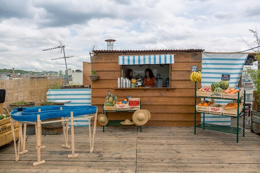 Installation sur la Terrasse du Perchoir