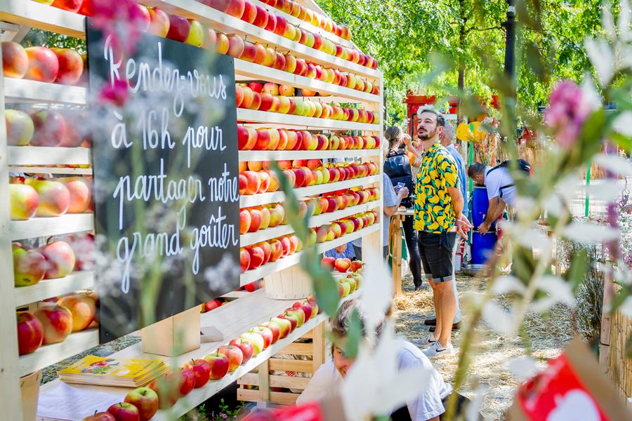 Maison de pommes, rendez-vous pour le goûter.