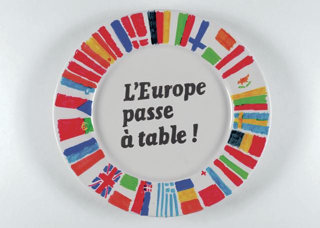 affiche du projet l'Europe passe à table
