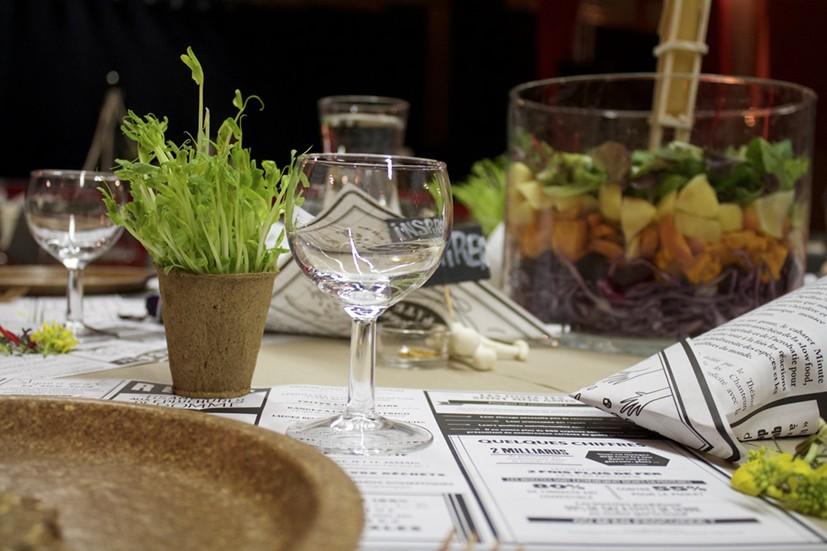 table recyclée