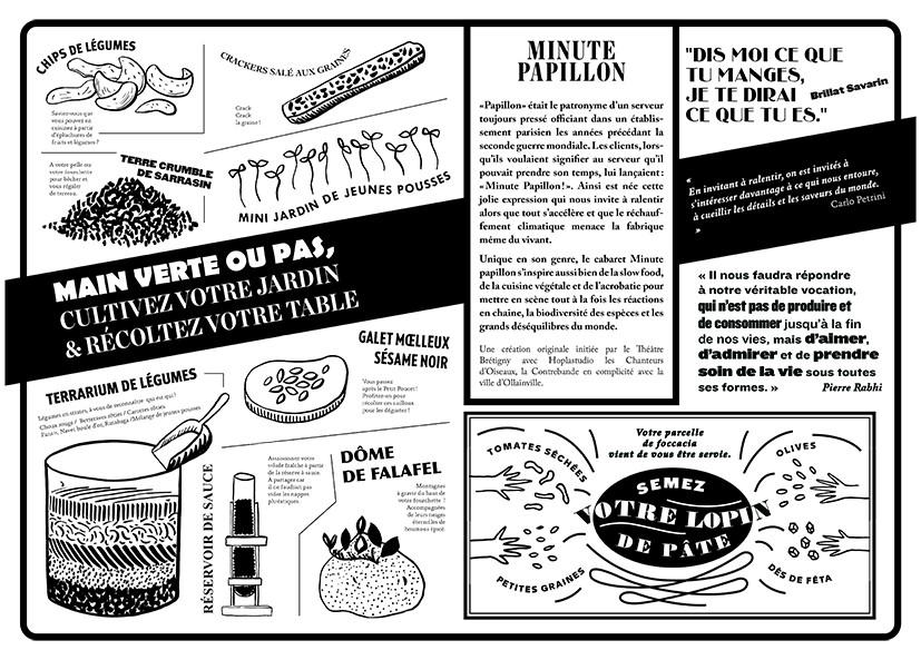 menu journal rustica