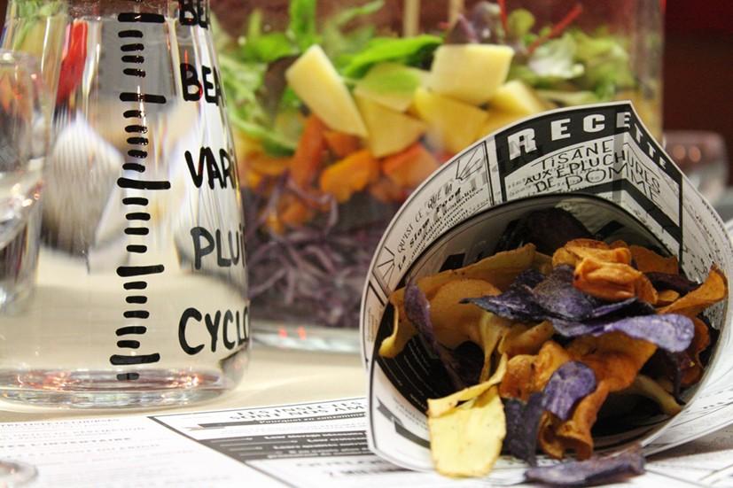 cornet de chips de légumes