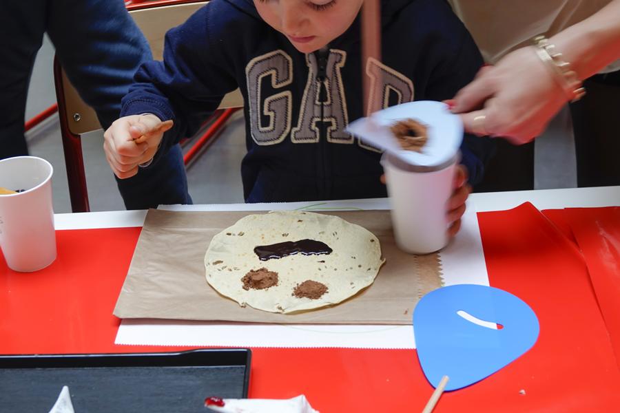 portrait en chocolat sur galette