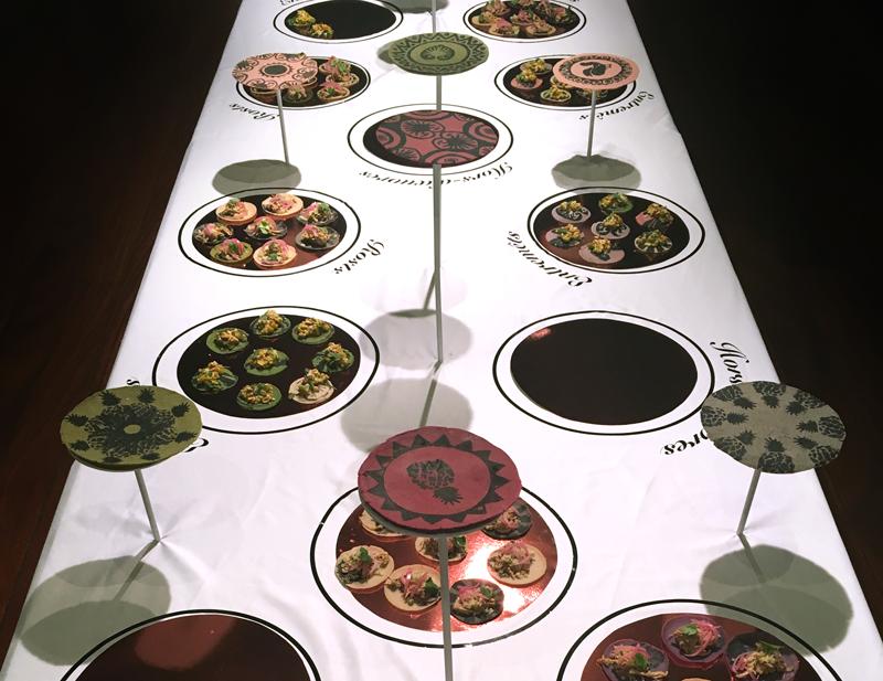 buffet à la francaise avec des tortillas