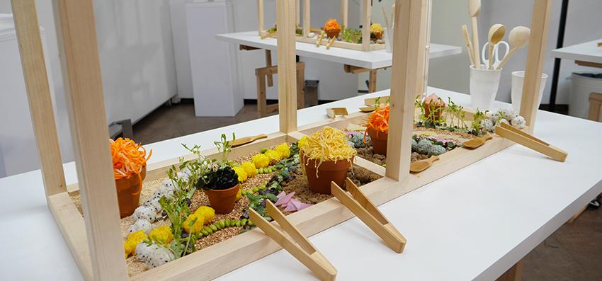 jardin japonais à récolter et à manger